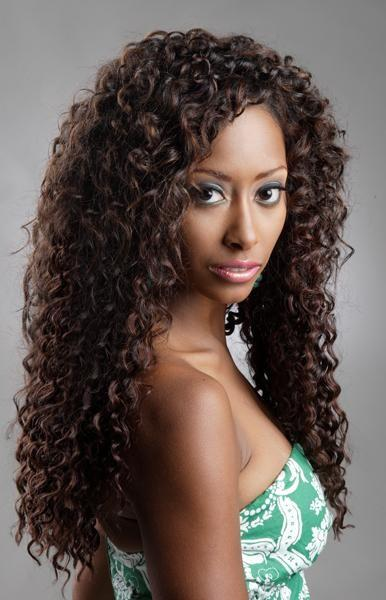 Deep Curl Dark Brown Indian Remy Lace Wig