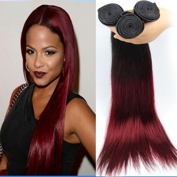 Straight Red Dyed Malaysian Hair