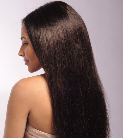 Straight Dark Brown Remy Hair Lace Wig