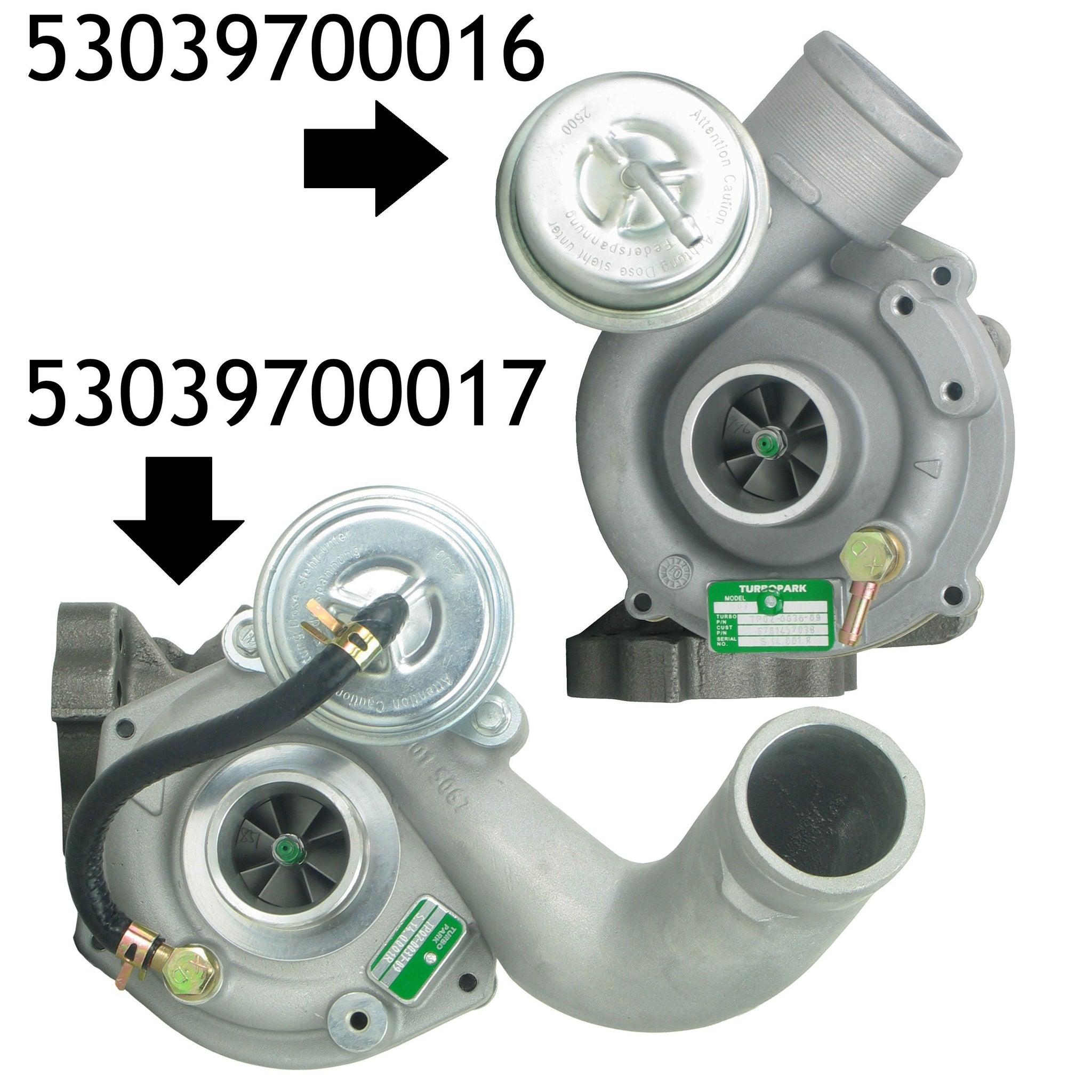 NEW Pair K03 Turbocharger Audi S4 A6 allroad AGB AJK ARE BES 53039700016-0017