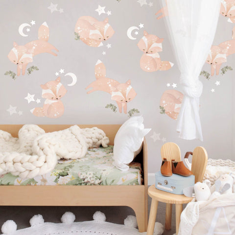 Friendly Foxes Woodland Wall Sticker
