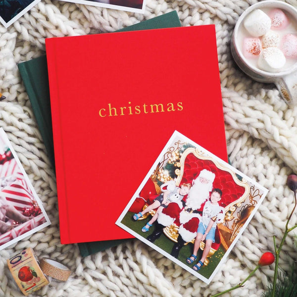 Family Christmas Book - Red