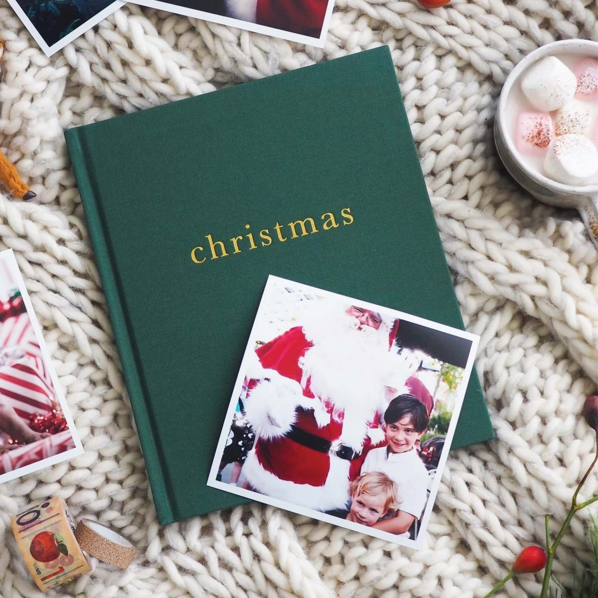 Family Christmas Book - Green