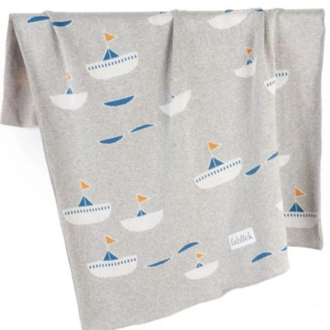 Sail Away Organic Cotton Blanket