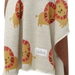 King of the Jungle Lion Organic Cotton Blanket