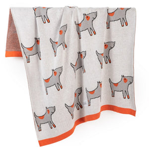 Spotted Dogs Organic Cotton Blanket