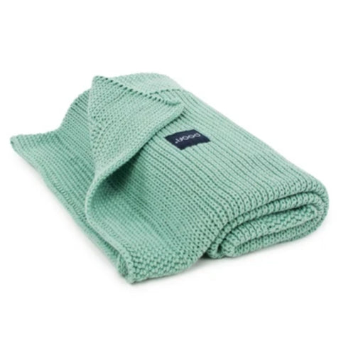 Organic classic knitted blanket - Peppermint
