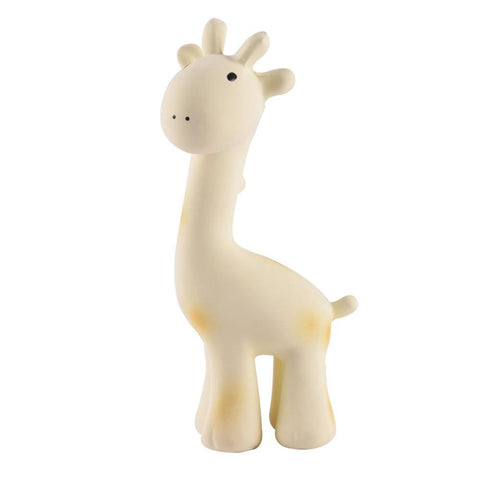 Giraffe - Natural Rubber Baby Rattle & Bath Toy