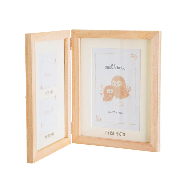 Wooden Baby Scan photo frame