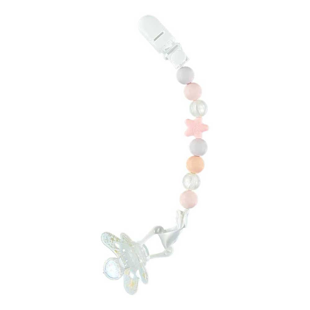 Comet Soother Clip - Pink & Pearl