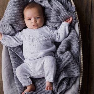 Grey Speckle Knitted Growsuit