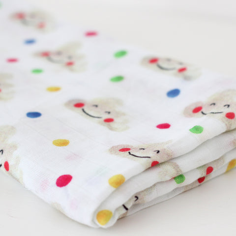 Muslin Swaddle Blanket - Happy Clouds