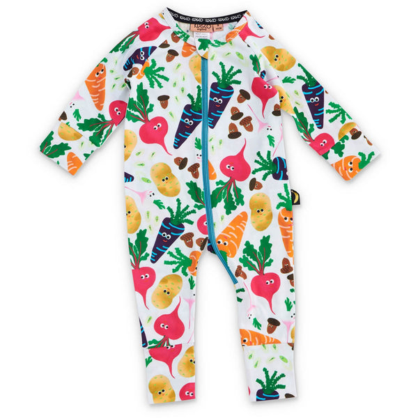 Kip&Co Veggie Patch Organic Cotton Zipsuit