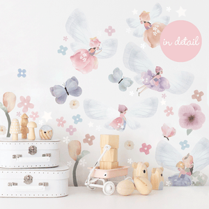 Extra Fairies & Butterflies Wall Sticker for Bedroom or Nursery