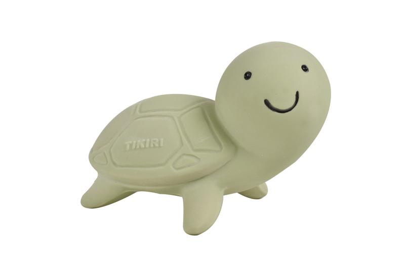 Turtle - Natural Rubber Baby Rattle & Bath Toy
