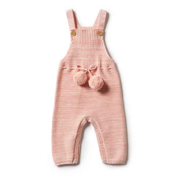 Strawberry & Cream Knitted Overall
