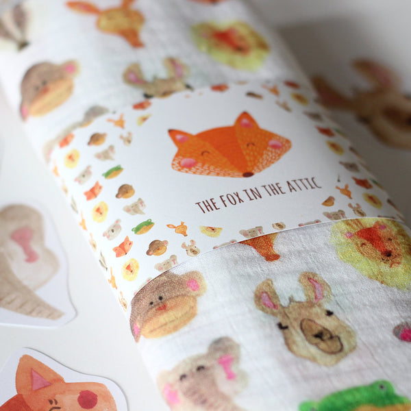 Muslin Swaddle Blanket - Animals