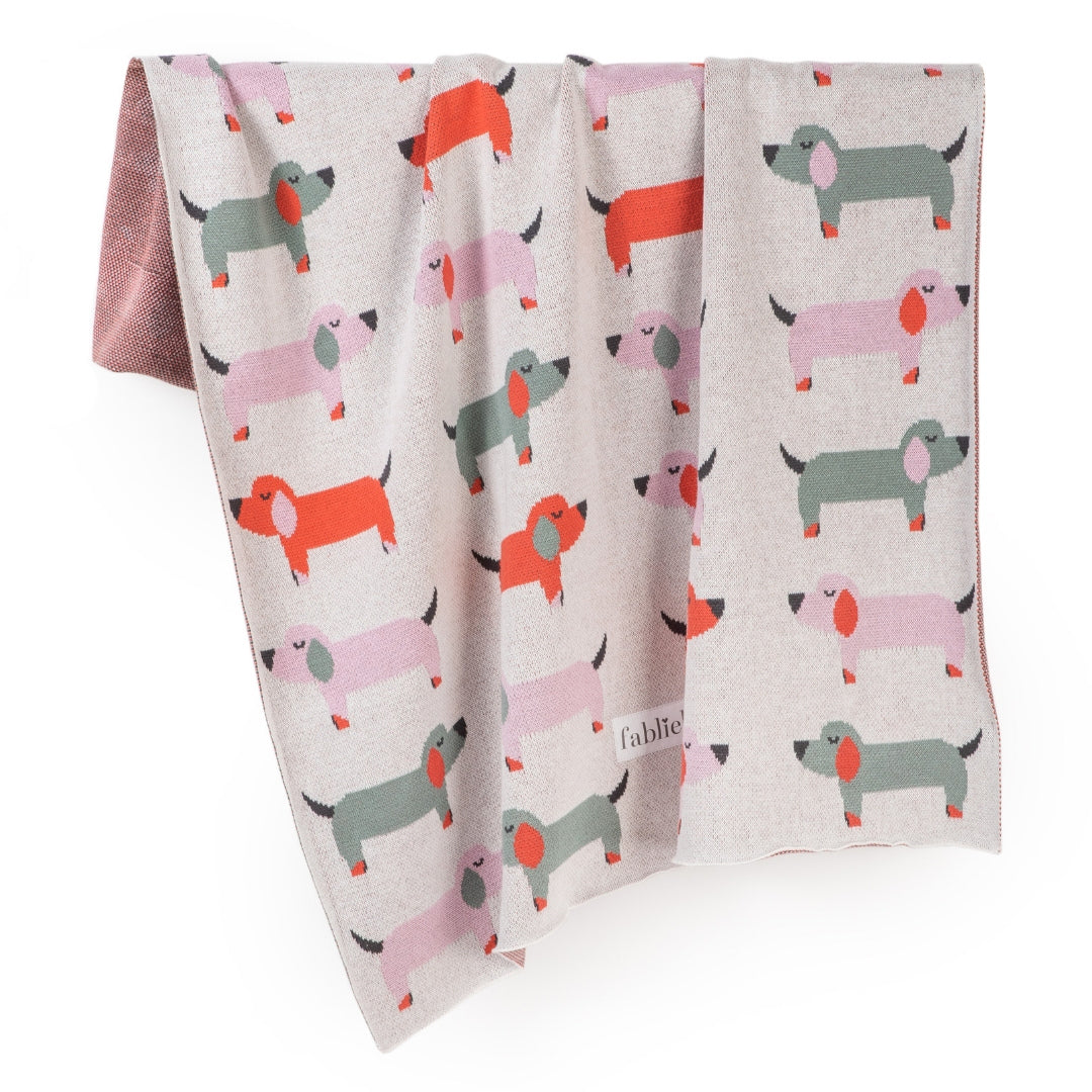 Dachshunds Organic Cotton Blanket