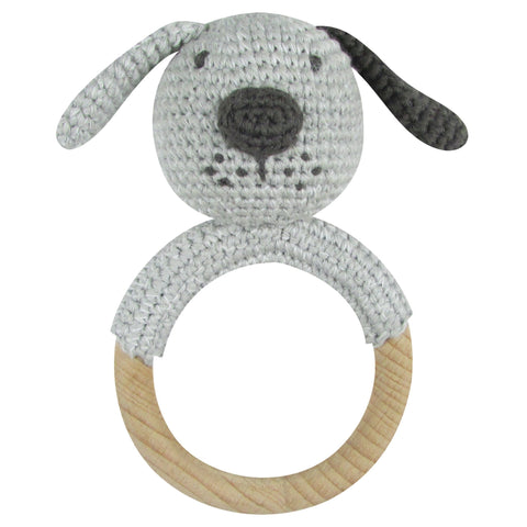 Crochet Dog Ring Rattle - Albetta