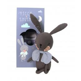 Grey Rabbit Soft Toy in a Special Story Gift Box