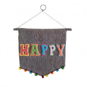 HAPPY wall hanging