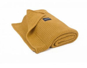 Organic classic knitted blanket - Honey