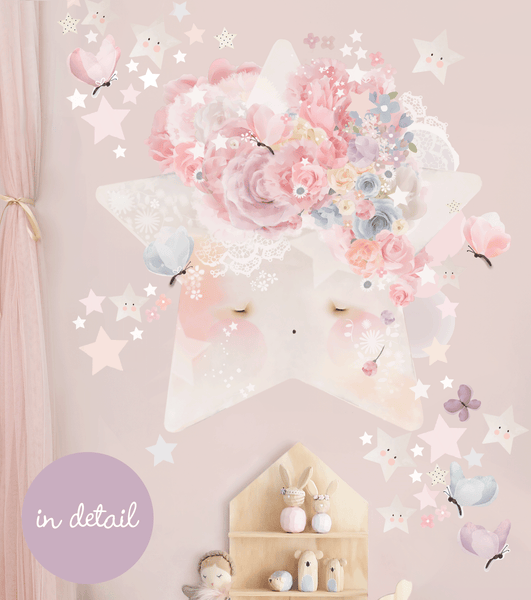 Wish Upon a Star Wall Sticker for Bedroom or Nursery