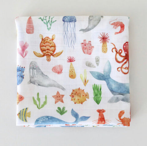 Sealife Muslin Square
