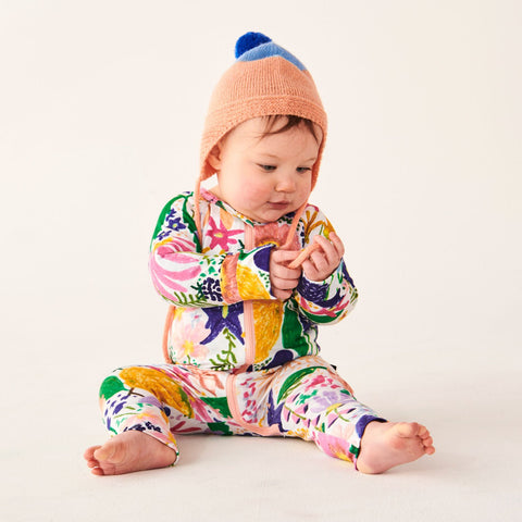 Kip&Co Meadow Colourful Organic Cotton Zipsuit