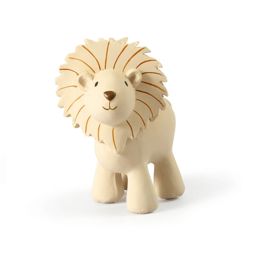 Lion - Natural Rubber Baby Rattle & Bath Toy