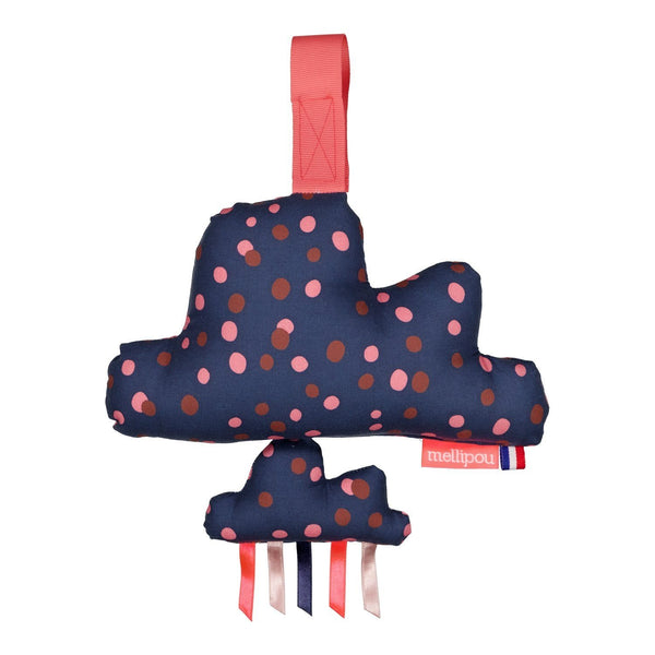 Mini bam Cloud Music Box (navy polka dot) - Adele 'Someone like you'