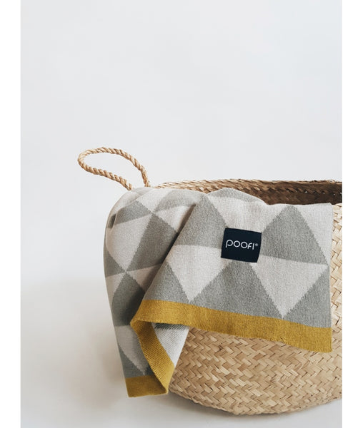 Organic Cotton blanket - Triangles