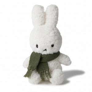 Miffy with green scarf soft toy - white/green