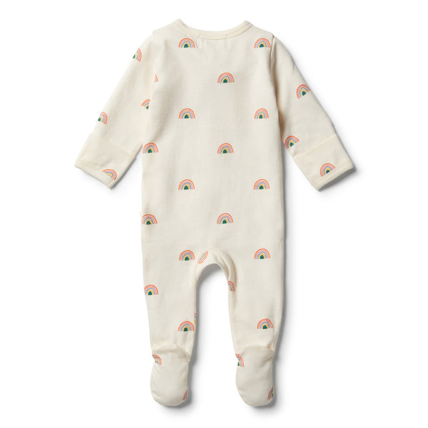 Sing a Rainbow Organic Cotton Zipsuit