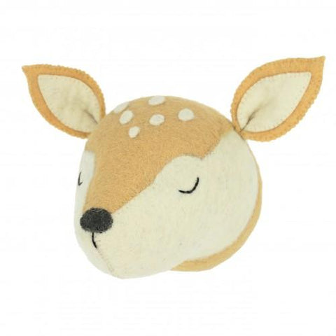 Sleepy Deer Head Wall Hanging