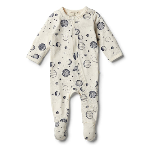 Star Gazing Organic Cotton Zipsuit