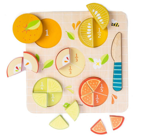 Citrus Fractions wooden puzzle