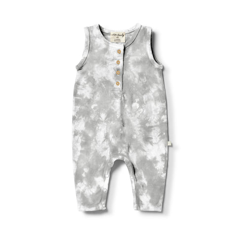 Organic Tie Die Growsuit - Cloud Burst