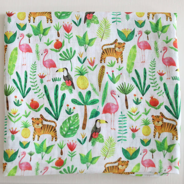 Muslin Swaddle Blanket - Tropical