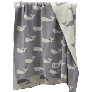 Whales Organic Cotton Blanket