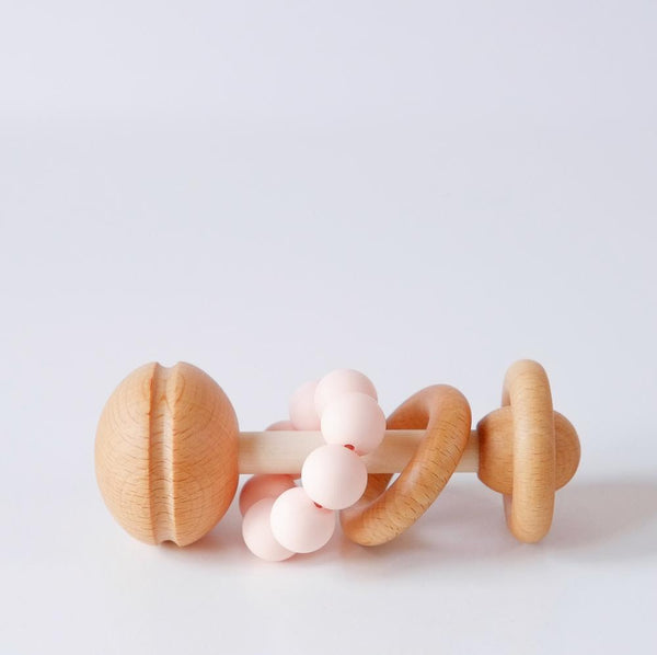 Wooden and Silicone Baby Rattle