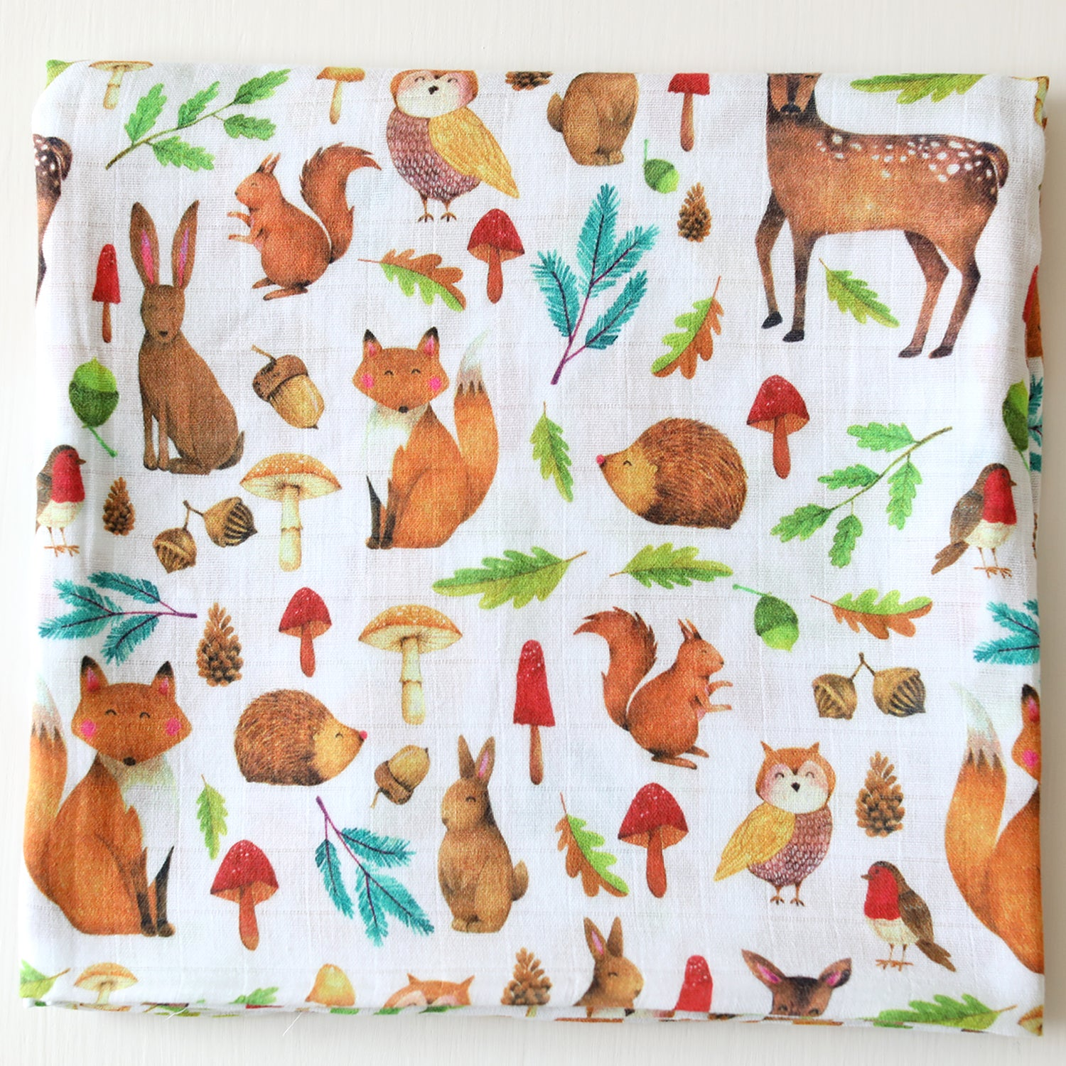 Muslin Swaddle Blanket - Woodland