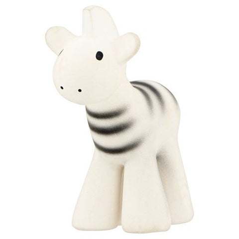 Zebra - Natural Rubber Baby Rattle & Bath Toy
