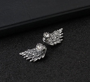 New Fashion Gothic Gold& Silver Plated Angel Wings Women Earring