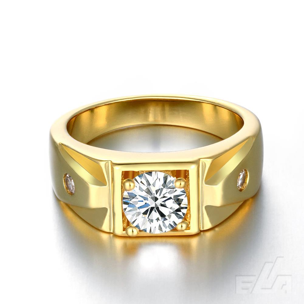 New Fashion  24K Gold Plated with AAA Zircon Diamond Ring