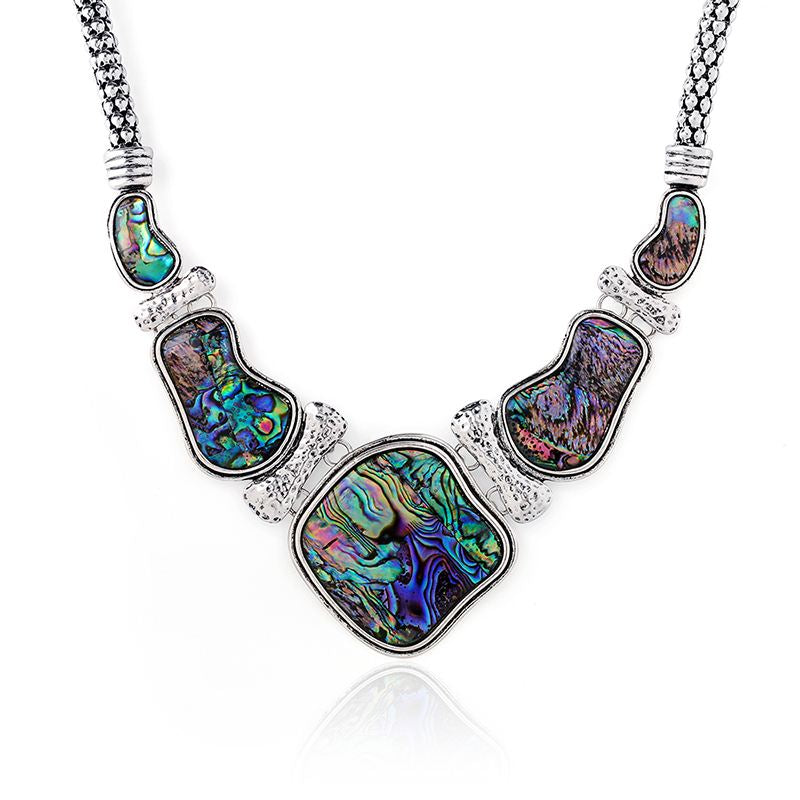 Unique Fashion Abalone Shell and Big Chokers Necklaces .