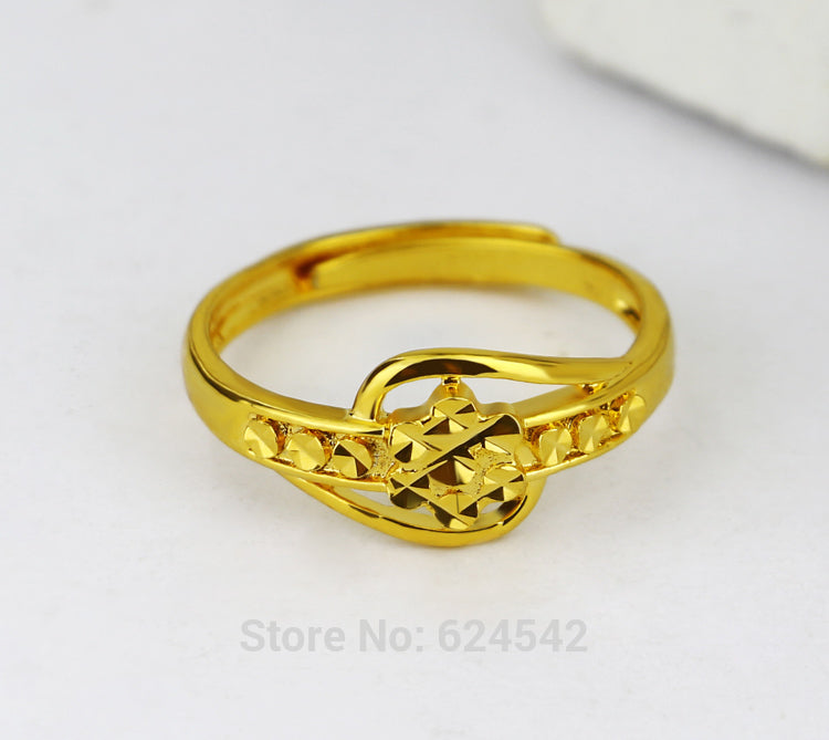 Genuine  24k Gold  Plated Ring Women Ring ,European and American Style