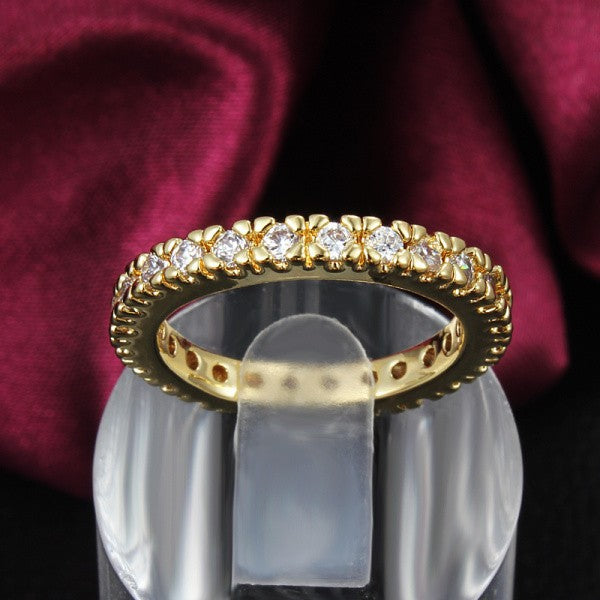 Best Quality Genuine 24K Gold Filled with CZ Diamonds Ring