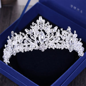 Elegant Crowns Hairband, Luxury Shine with Full Crystal Stone.