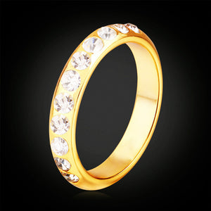 2018 Fashion New 18K Gold Plated Ring with Fine Zircon.